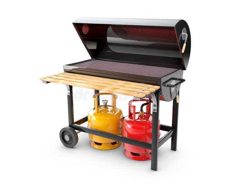 Gas Grill Stock Illustrations.