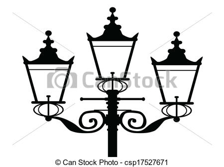 Gaslamp silhouette clip art.
