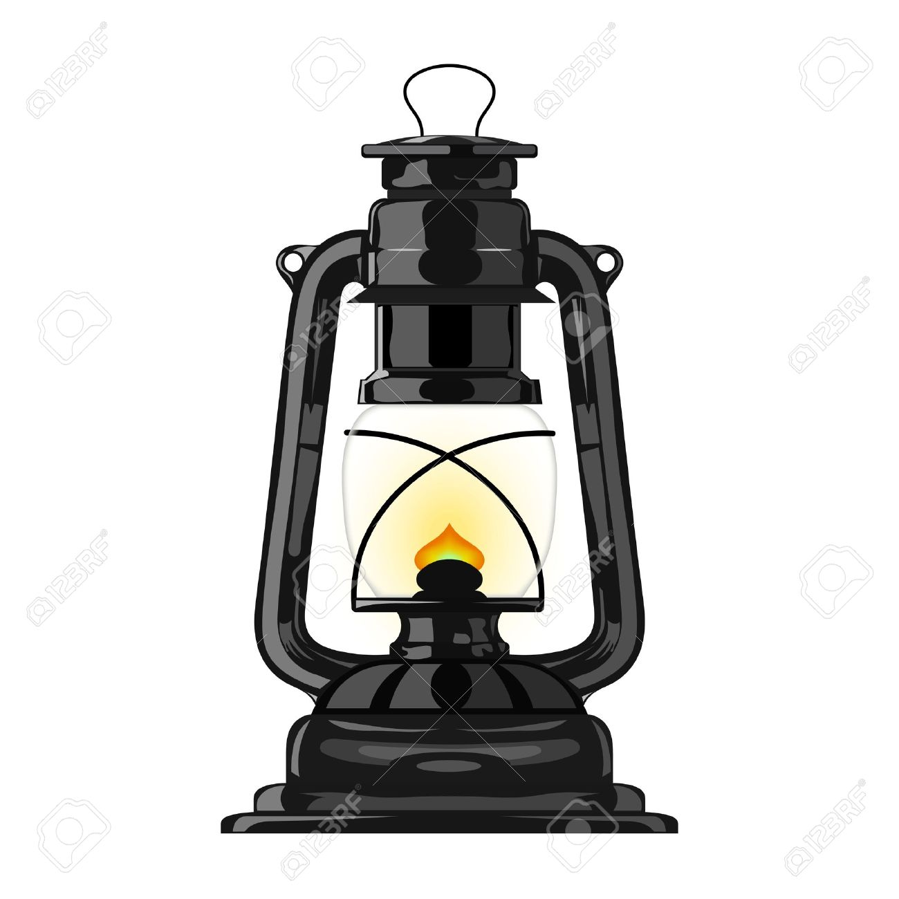 Old Kerosene Lamp. Royalty Free Cliparts, Vectors, And Stock.