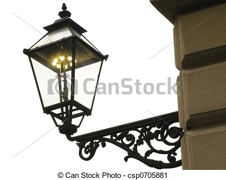 Stock Photography of gas lamp.