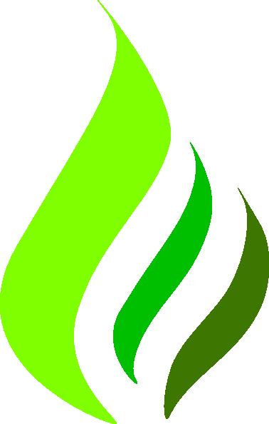 Green Gas Flame Logo Clip Art at Clker.com.