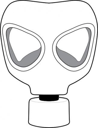 Gas Mask clip art Free Vector.