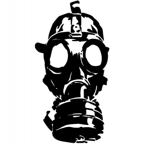 Gas mask vector clip art.