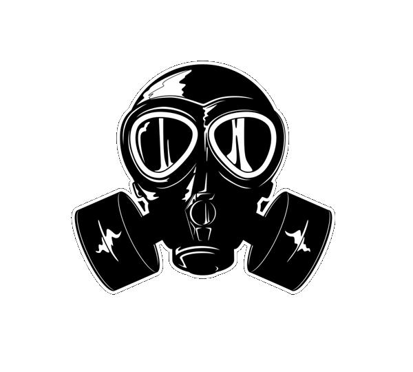 Gas mask Cartoon.