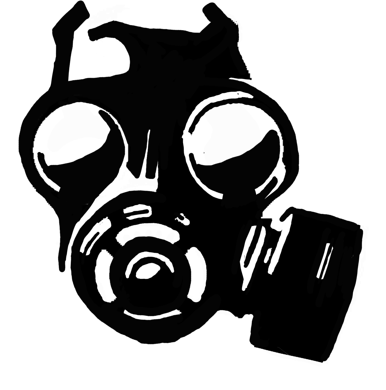 Gas mask clip art.