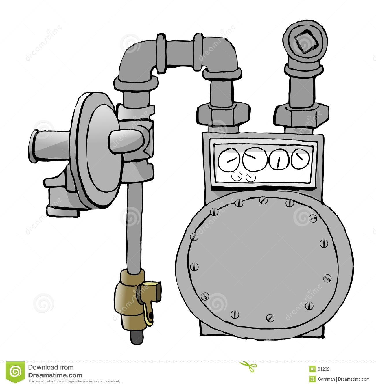 Natural Gas Meter Clipart.