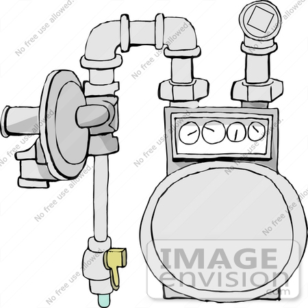 Gas Meter Clipart.