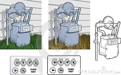 Natural Gas Meter Stock Illustrations.