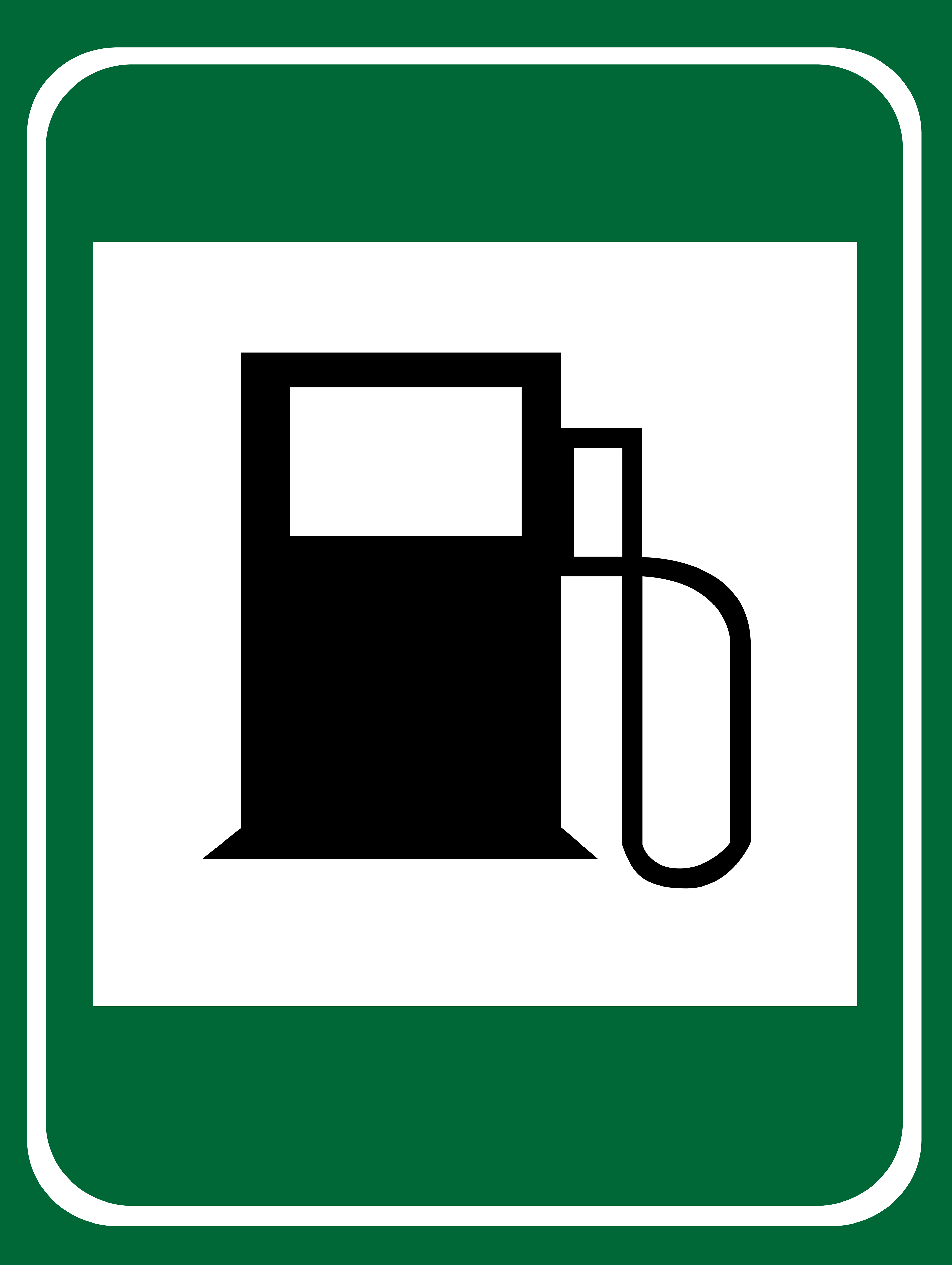 Gas Station Sign PNG Clipart.