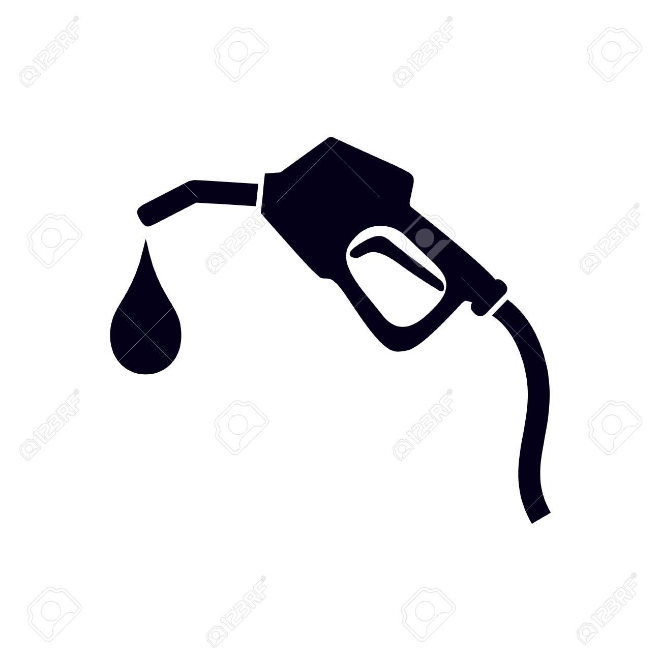 Gasoline pump nozzle sign.Gas station icon. Flat design style..