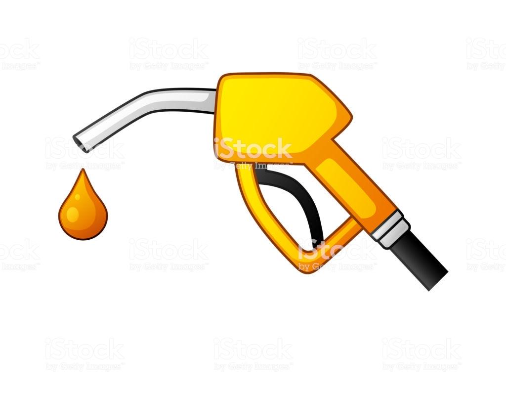 Fuel Pump Nozzle And Drop Stock Illustration.