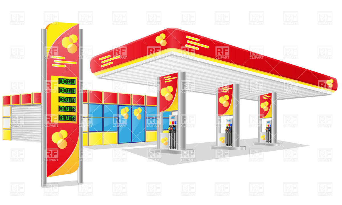 Gas station building clipart 4 » Clipart Station.