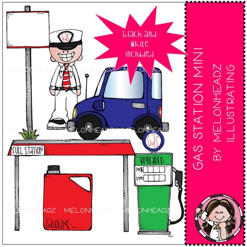 Gas Station clip art.