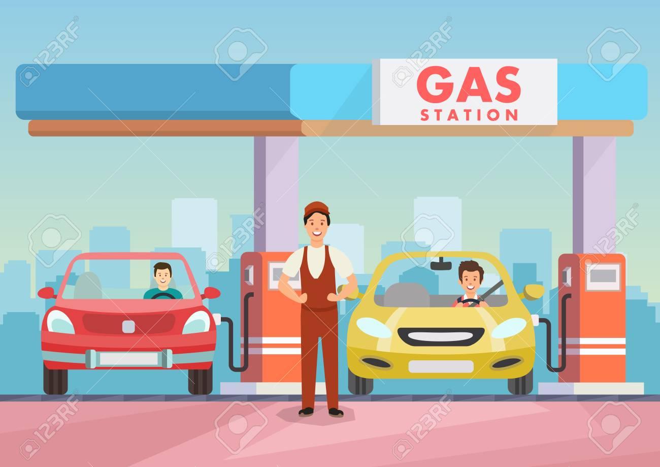 Clipart Of Car At Gas Pump & Free Clip Art Images #24597.