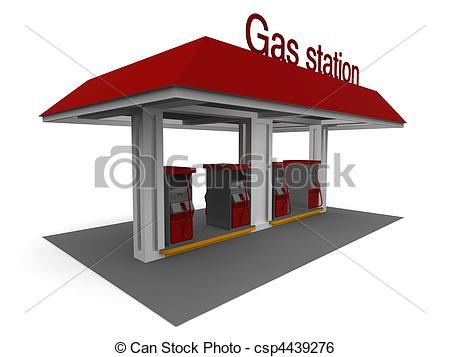 Stock Illustration of Gas Station.
