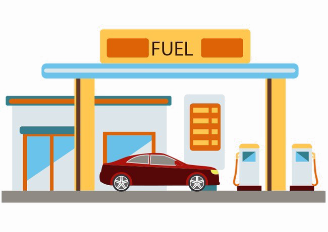 Gas Station PNG File.