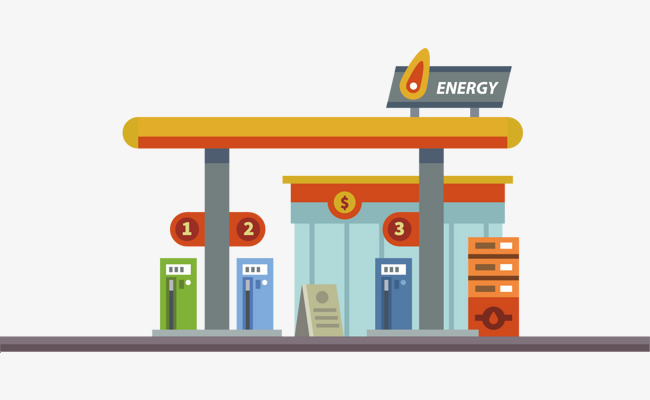 Vector Gas Station, Free Stock Png, Deco #120713.