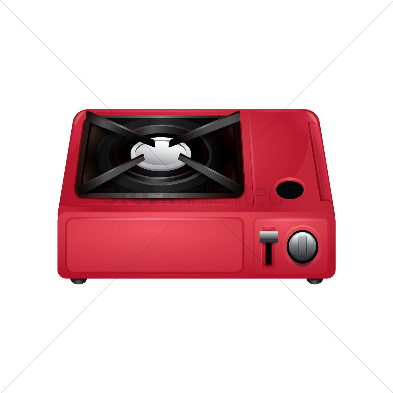 Portable gas stove Vector Image.