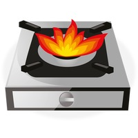 Gas stove Vector Image.