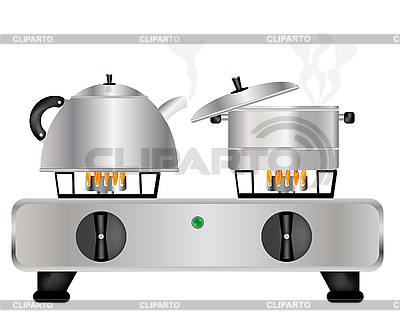 Gas Stove Cartoon.