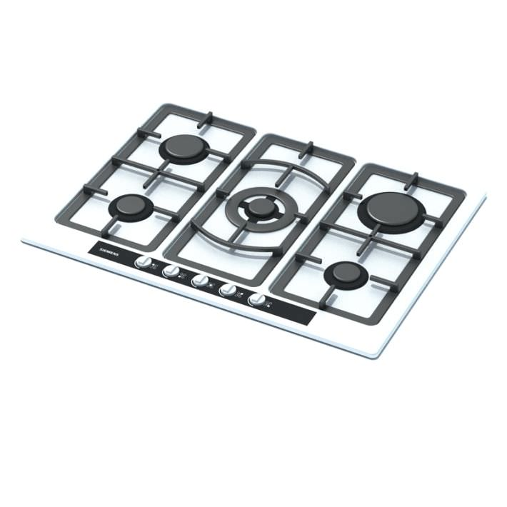 White And Black Gas Stove Top 3D Model.