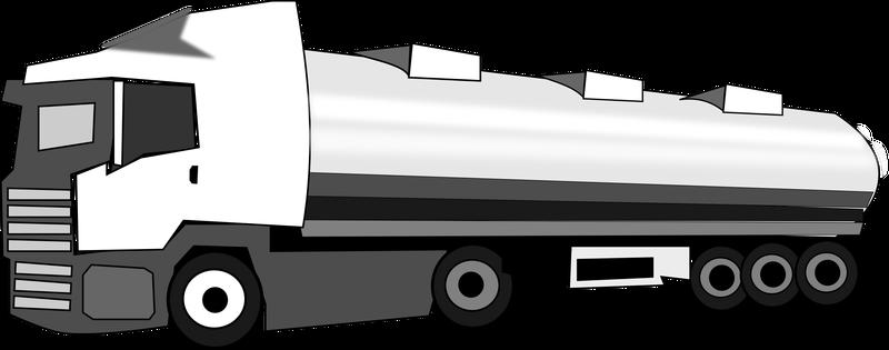 Tanker Truck Vector Clipart image.