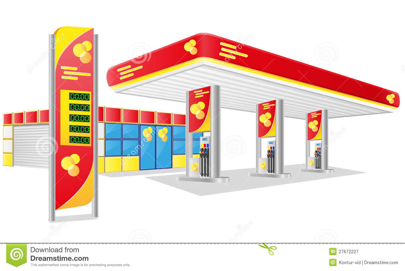 Petrol Station Vector Stock Photos.