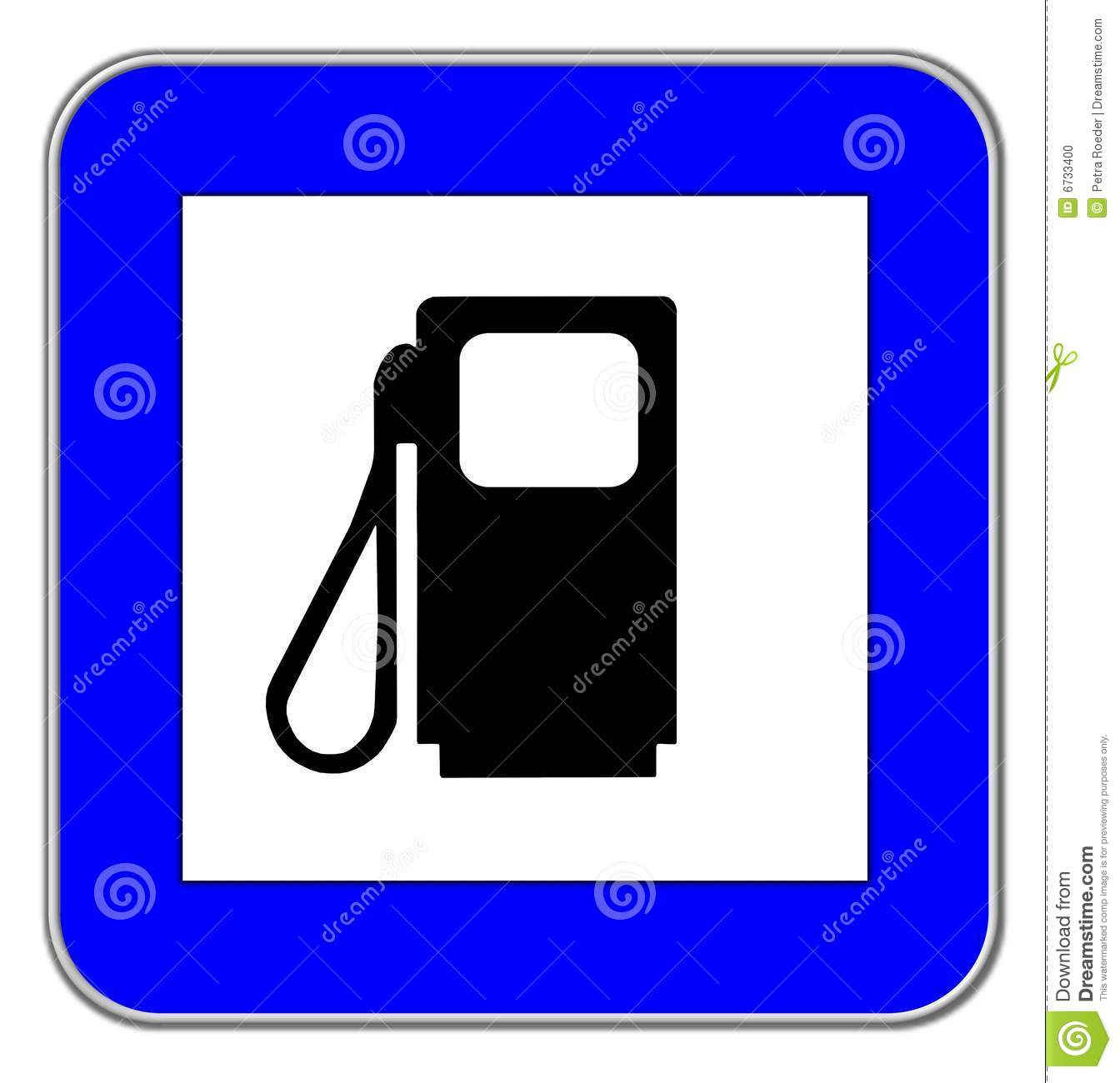 Gas Station Symbol Stock Photo.