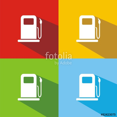 "Iconos gasolinera sombra"" Stock image and royalty."