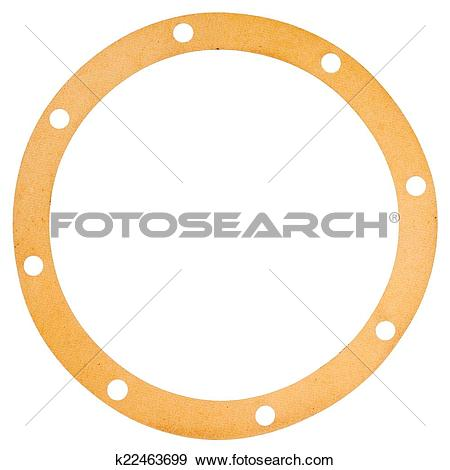 Stock Photograph of Old circle shape paper gasket k22463699.