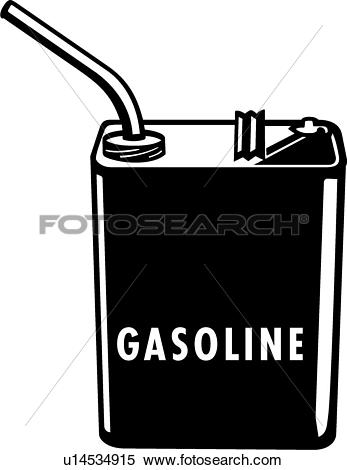 Clipart of Gasoline Can01 u14534915.