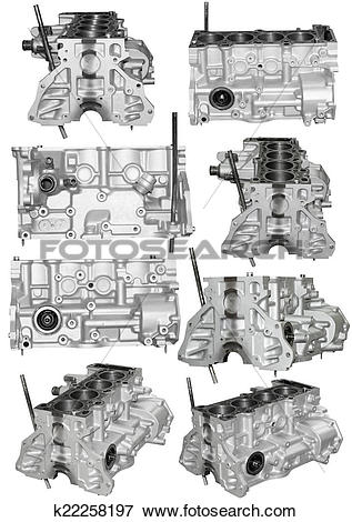 Picture of Cylinder block of a gasoline engine k22258197.