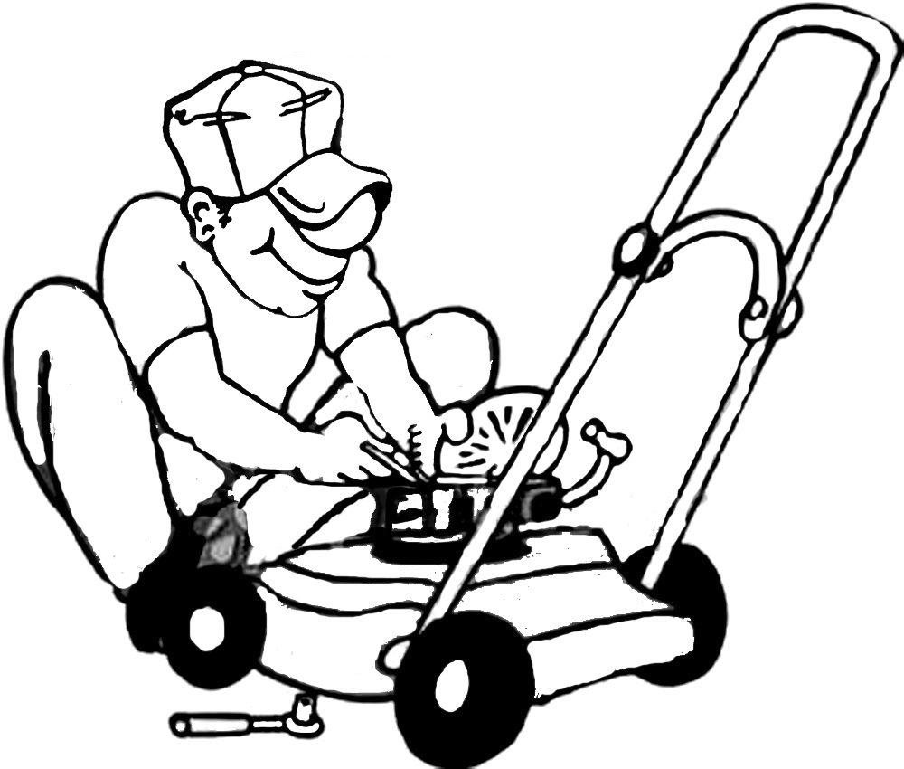 No gasoline lawn mower clipart.