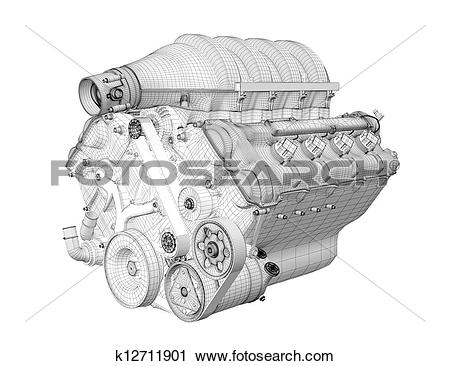 Clipart of Gasoline engine k12711901.