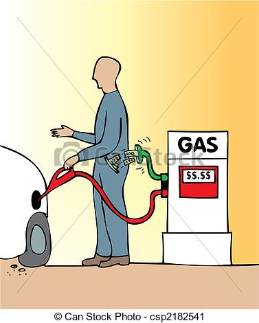 Vector Clip Art of Gas price.