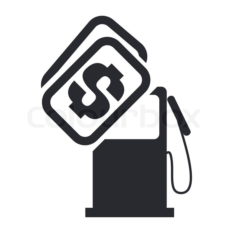 Vector illustration of single gas price icon.