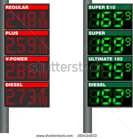 Gasoline Prices Stock Vectors & Vector Clip Art.