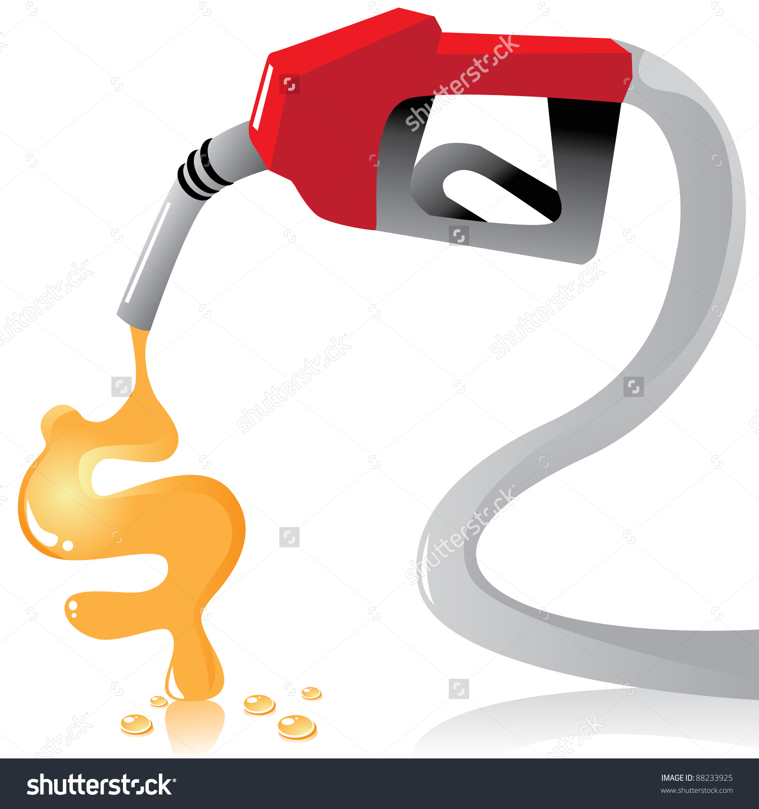 Risig Gas Prices Gas Nozzle Pours Stock Vector 88233925.