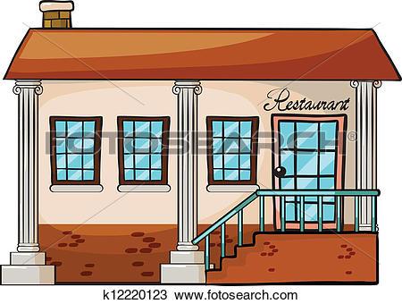 Clipart of A restaurant k12220123.