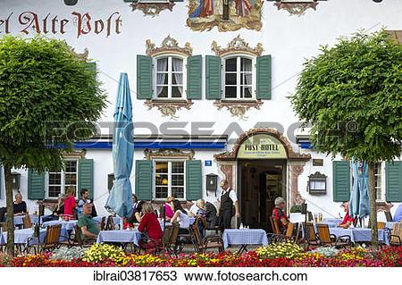 """Stock Photo of """"Hotel und Gasthof Alte Post with Luftlmalerei."""