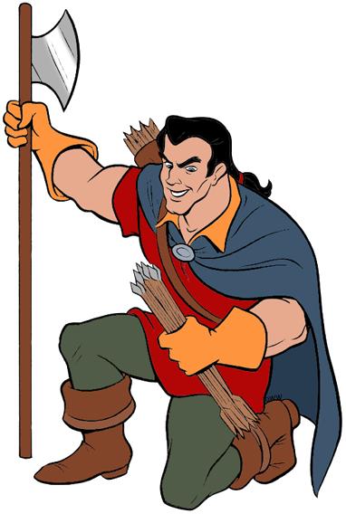 Gaston and Lefou Clip Art.
