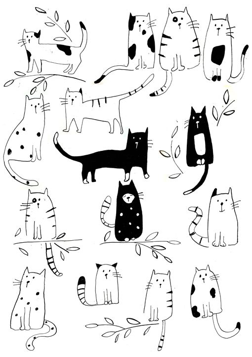 Gatas clipart black and white 3 » Clipart Station.