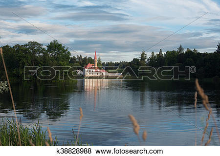Pictures of View of Priory Palace in Gatchina k38828988.