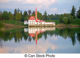 Picture of View of Priory Palace in Gatchina.