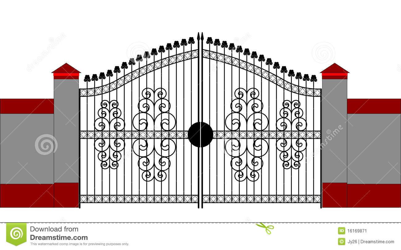 House gate clipart.