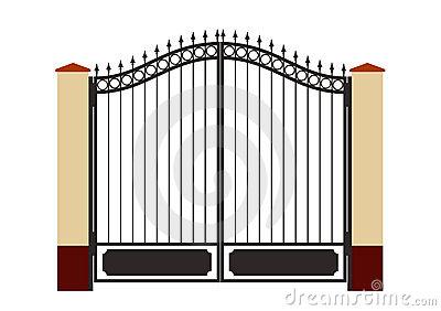 Gate Stock Illustrations.