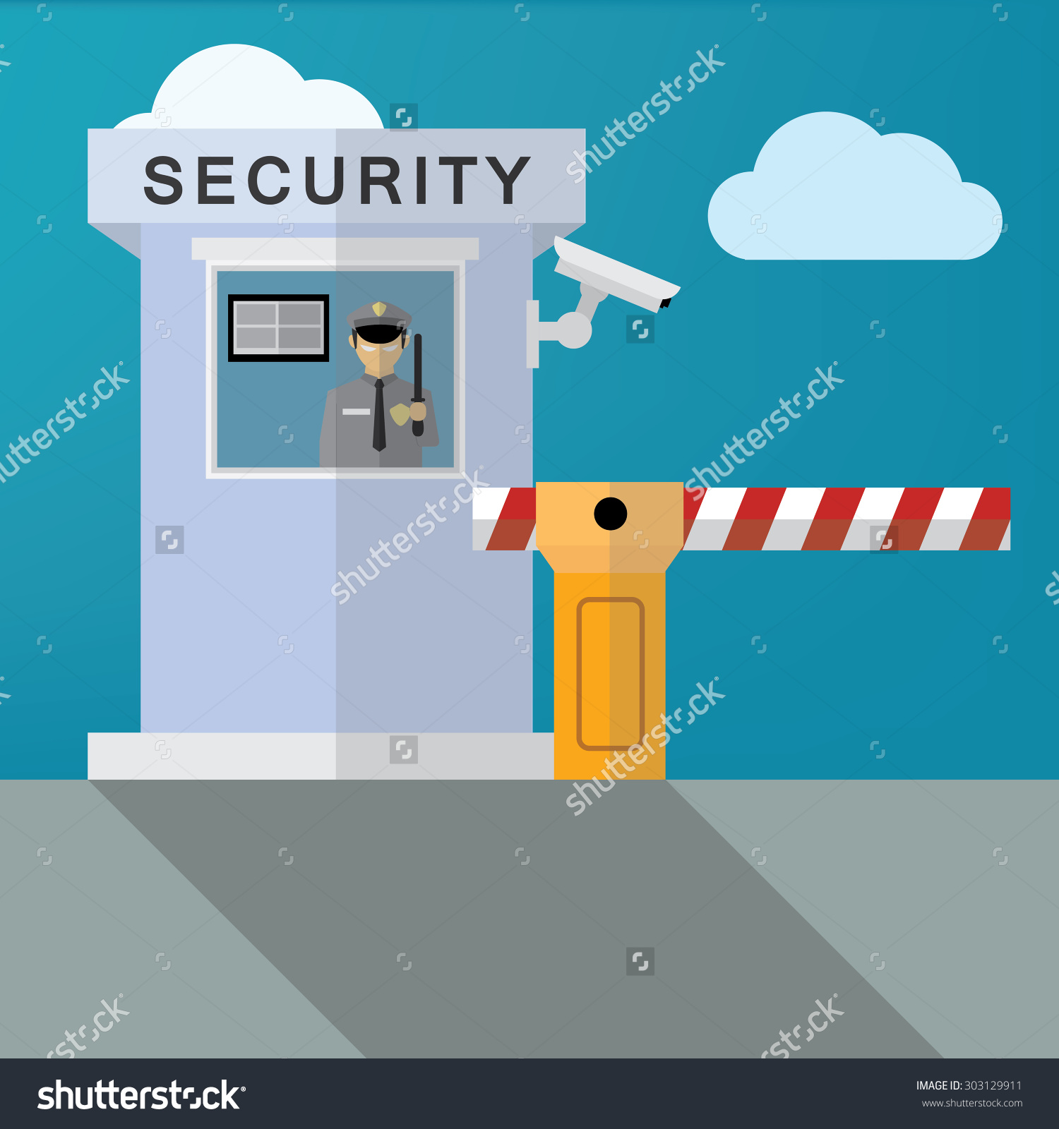 Security gate clipart.