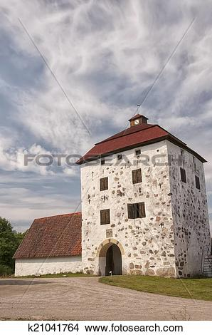 Stock Photo of Hovdala Castle Gatehouse k21041764.