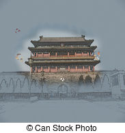 Tiananmen Illustrations and Clipart. 79 Tiananmen royalty free.