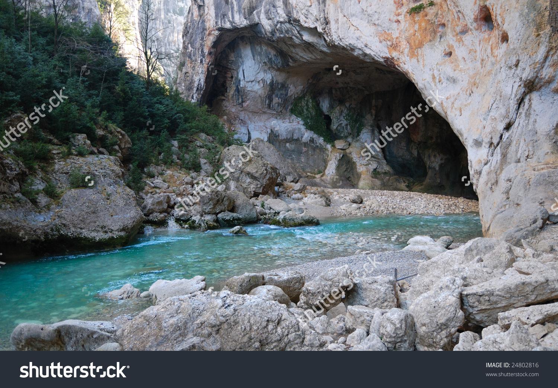 View On River Mountains Gorges Du Stock Photo 24802816.